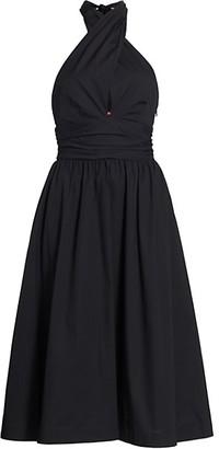 STAUD Moana Twist Neck Midi Dress