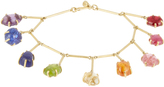 Pippa Small Multi-stone & yellow-gold bracelet