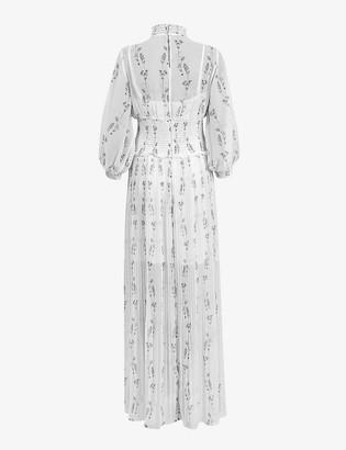 AllSaints Delfi Varanasi chiffon maxi dress