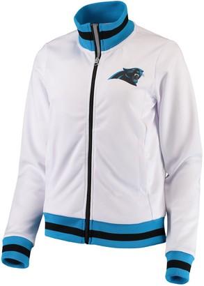 G Iii Women's G-III 4Her by Carl Banks White Carolina Panthers Field Goal Track Jacket