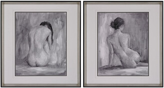Artistic Home & Lighting Figure In Black And White I And Ii Fine Art Print Under Glass