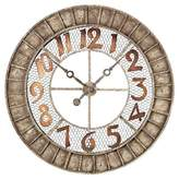 "Lazy Susan Montana 36"" Round Wall Clock Brass"