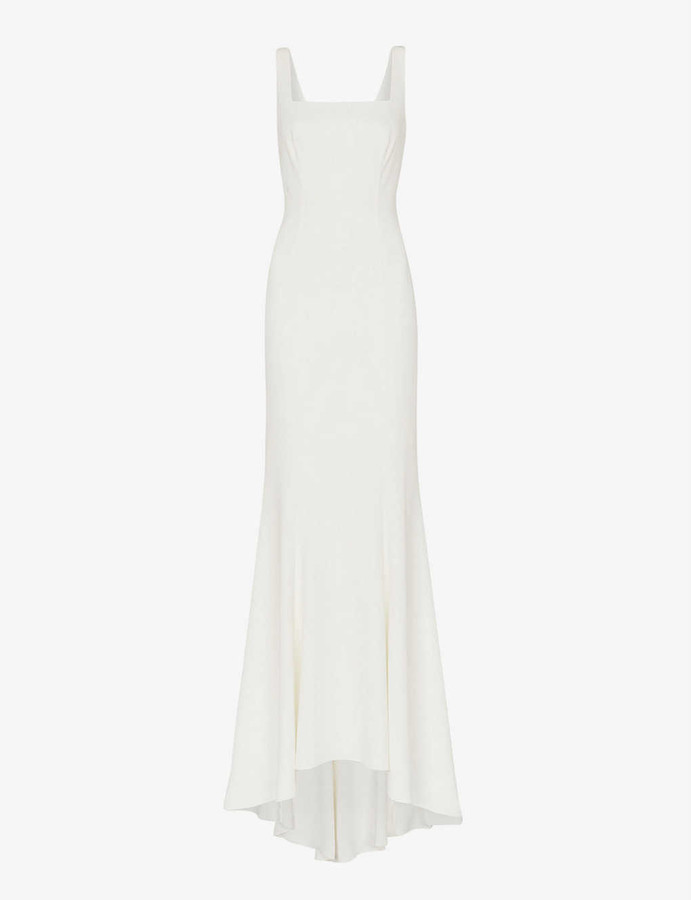 Whistles Mia square-neck crepe wedding gown