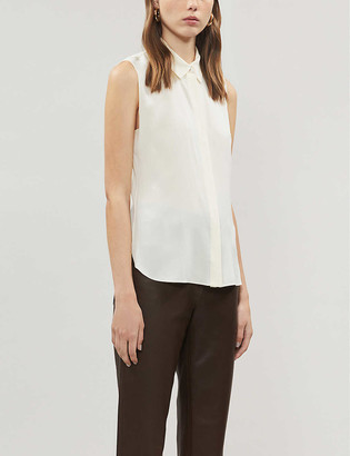 Theory Classic silk-blend crepe shirt