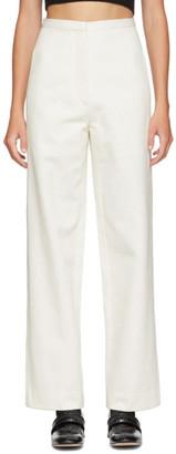 LVIR Off-White Stitched Trousers