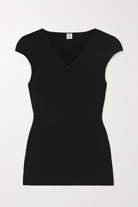 Totême Knitted Top - Black