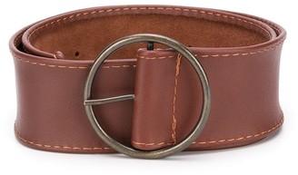 MonnaLisa Leather Buckle Belt