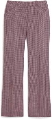 Mulberry Eve Trousers Icy Pink Mini Houndstooth Textured Wool