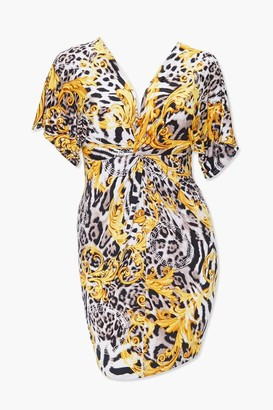 Forever 21 Plus Size Baroque Leopard Print Dress
