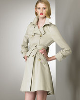Valentino Red Bow-Back Trench