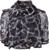Comme des Garcons crinkled print crop jacket