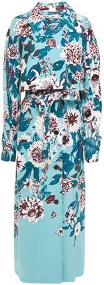 Diane von Furstenberg Floral-print Twill Trench Coat