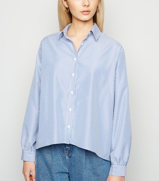 New Look Stripe Dip Hem Poplin Shirt