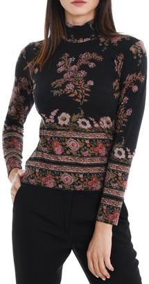 Etro Floral High Neck Pullover