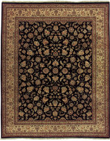 """Nourison Closeout! Royalty RO31 Navy 7'9"""" x 9'9"""" Hand-Knotted Rug"""