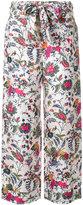 Tory Burch Gabriella cropped trousers - women - Silk - 4