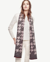Ann Taylor Houndstooth Blanket Scarf