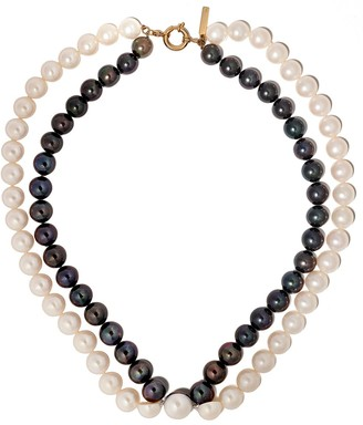 Tasaki 18kt yellow gold Sliced Freshwater pearl necklace