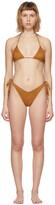 Thumbnail for your product : Reina Olga Tan Suede Susan Bikini