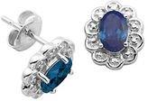 Lord & Taylor September Birthstone Sterling Silver Earrings