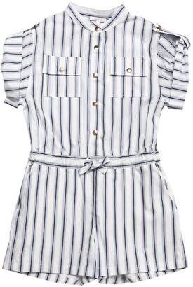 Chloé Striped Cotton Poplin Romper
