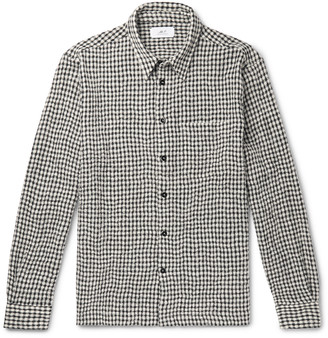 Mr P. Micro-Checked Virgin Wool-Blend Flannel Shirt