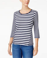 Karen Scott Mixed-Stripe Top, Created for Macy's