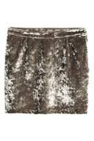 H&M Velvet Skirt