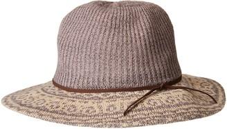 San Diego Hat Company Women's 3.25 Brim Knit Fedora with Faux Suede Trim
