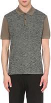 Lanvin Contrasting cotton-piqué polo shirt