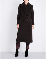 By Malene Birger Ladies Espresso Ayana Double-Breasted Woven Coat