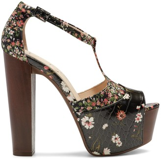 Jessica Simpson Women's Dany In Color: Blk Multi/primavera Shoes Size 5 Leather From Sole Society