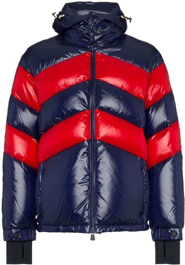 c27655d59 striped padded hooded jacket