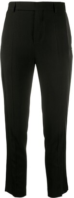 Rick Owens Cropped Side Panel Trousers