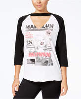 Freeze 24-7 Freeze Juniors' Marilyn Graphic Raglan Top