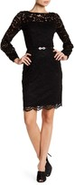 Ellen Tracy Lace Belted Dress