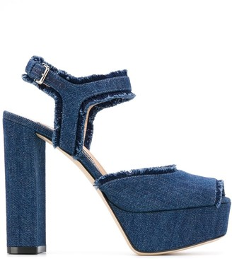 Sergio Rossi 70mm Denim 90 sandals