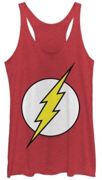 Fifth Sun Dc The Flash Classic Lightning Bolt Logo Tri-Blend Women's Racerback Tank