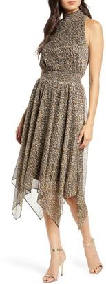 Sam Edelman Leopard Print Handkerchief Dress