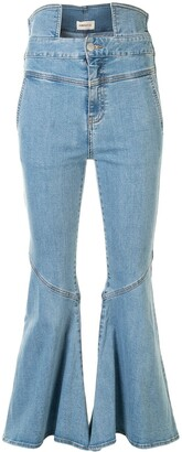 PortsPURE High-Rise Flared Jeans