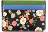 Tory Burch Floral Print Card Holder