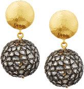 Gurhan Celestial Pastiche Two-Tone Diamond Slice Drop Earrings