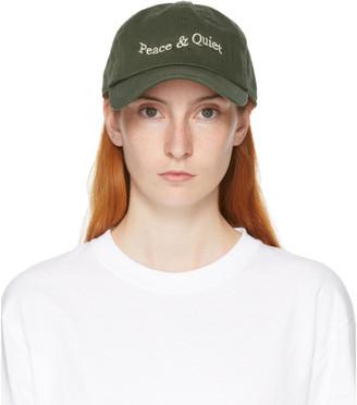 Museum of Peace and Quiet Green Warped Wordmark Cap