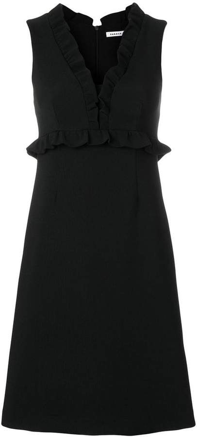 P.A.R.O.S.H. ruffle trim crepe dress