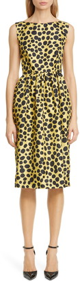 Marc Jacobs Spot Print Silk Dress