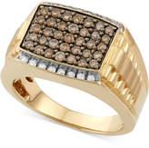 Macy's Men's Diamond Ring (1 ct. t.w.) in 10k Gold
