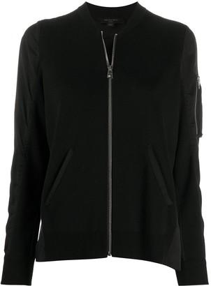 AllSaints Maeve knitted bomber jacket