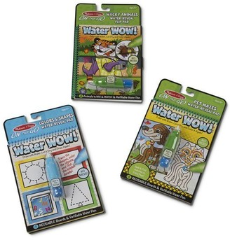 Melissa & Doug Water Wow! Mess-Free Reusable Colouring Flip Pads 3-Pack Colours, Shapes, Mazes