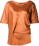 Ann Demeulemeester flared shortsleeved blouse - women - Silk/Spandex/Elastane - 36