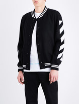 Off-White Striped wool-blend varsity jacket